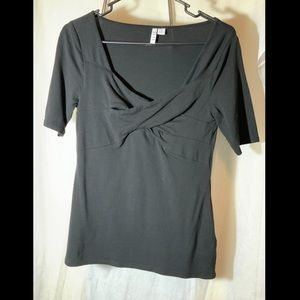 Elle black half sleeve shirt